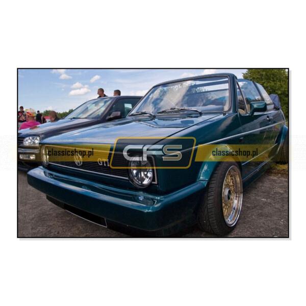"""171853679 Emblemat """"GTI"""" Na Grill VW Golf 1, Jetta 1"""